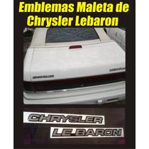 Emblemas Para Chrysler Lebaron Maleta