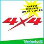 Calcomania 4x4 Chevrolet Luv Dmax Nuevo Diseño 2015 2016