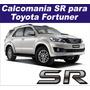 Calcomania Sr Para Compuerta Toyota Fortuner