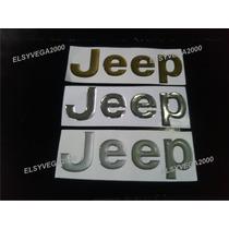 Emblema Jeep En Relieve Para Cherokee Y Grand Cherokee Cromo