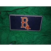 Placa De Carro De Los Medias Rojas De Boston, 1