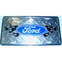 Placa Ford En Aluminio - F150 F350 Fiesta Ka Focus