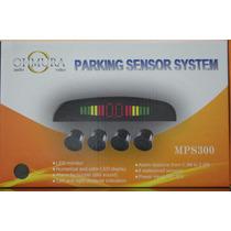 Sensor Retroceso 4 Sens Pantalla Led Pito Negro Blanco Gris