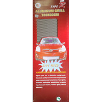 Malla De Aluminio 100x33 Cm Carro Tuning Plateada O Negra