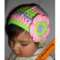 Tejidos!!! Para Niñas, Gorritos Con Flor En 2 Y 3 Colores