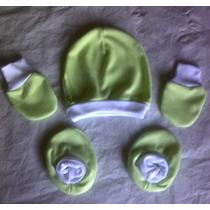 Set De Manoplas Guantes Y Gorrita Para Bebés Recién Nacidos