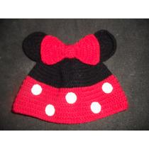 Gorros Tejidos De Mickey Y Minnie Para Bebes