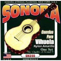 Cuerdas Para Vihuela Nylon Sonora Sn250 Made In Usa