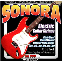 Set De Cuerdas Para Guitarra Eléctrica Sonora 009 Madein Usa