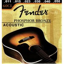 Cuerda Fender Para Guitarr Electro-acustica 011 60cl Metal
