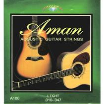Cuerdas Aman Para Guitarra Eléctro-acustica 010 -047 Light