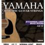 Cuerdas Yamaha Para Guitarra Electrico-acustica 012 Nuevas