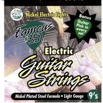 Set De Cuerdas Para Guitarra Electrica 09 Y 010 Famous 351