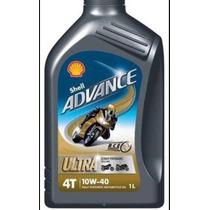 Aceite Shell Sintético Importado 10w 40 Para Motos 4 Tiempos