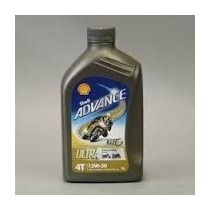 Aceite 4t Shell Advance 10w40 Ultra Full Sintetico Motos 4t
