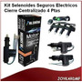 Kit Selenoides Seguros Electricos Cierre Centralizado 4 Ptas