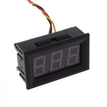 Voltímetro Digital De Panel Led Rojo Para Vehículos 0 A 30 V