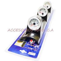 Relojes Triples De R.pm., Temperatura Y Voltimetro