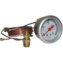Reloj Tacometro Presion Aceite Rinho 52mm 80psi 5.6 Kg/cm2