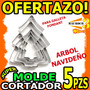 Wow Molde Cortador Galleta Fondant Aluminio Arbol Navideño