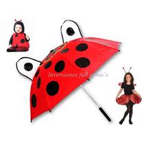 Paraguas/sombrilla Coquito Para Niñas Y Niños. Oferta!!!