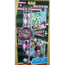 Monster High Reloj Proyector Digital Niña Import Original