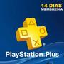 Suscripcion Playstation Plus 14 Dias Ps4