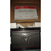 Amplificador O Planta Kicker Zx750.1 Mono Canal 750w