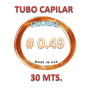 Tubo Capilar 049 (precio X Metro) Tuberia De Cobre Importada