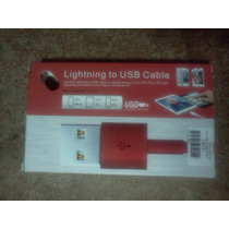Cable Usb Lightning Iphone 5, Ipod , Ipad, Ipad Mini