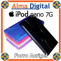 Forro Acrigel Ipod Nano 7g Estuche Protector Goma Manguera