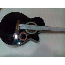 Guitarra Electroacustica Austin Negra Cuerdas De Metal