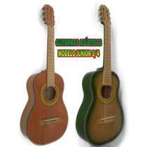 Guitarras Acústicas En Madera Cedro, Modelo Junior 3/4