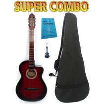 Super Combo De Guitarra Acústica, Manual Y Llavero