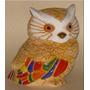 Buho De Ceramica, Bellos Colores Brillantes