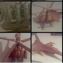 Aeromodelismo: Aviones, Barcos, Helicopteros Tallado Madera