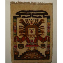 Tapíz Alfombra Decorativa Peluda Azteca Para Sala O Recibo