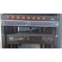 Power Qsc Rmx 850 + Ecualizador 15 Bandas+mezcla De Remate