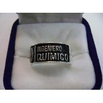Aro Graduacion Ing Quimico Logo Usb De 6mm Plata Ley 950!!