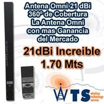 Antena Omni 21 Dbi Wts 360º Pol. Horizontal Certificada