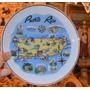 Plato De Porcelana Decorativo De Puerto Rico.