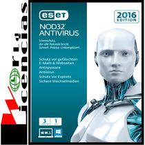 Eset Nod32 Antivirus V9 Licencia Original 3 Año X 3 Pc