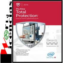 Mcafee Total Protection Licencia Original 1 Año X 1 Pc