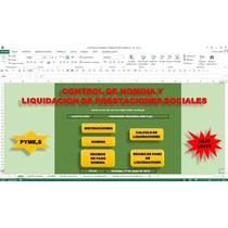 Nomina+liquidaciones Con Recibo De Pago , En Excel