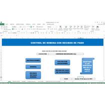 Control De Nomina Con Recibo De Pago,en Excel