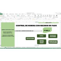 Control De Nomina,en Excel