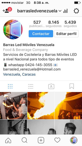 Aquiler De Barras Moviles Led..