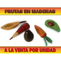 Frutas Decorativas Talladas En Madera Por Unidad