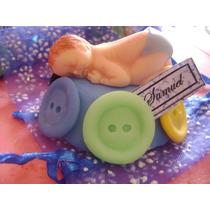 Recuerdos Baby Shower De Bebe Acurrucado En Masa Flexible