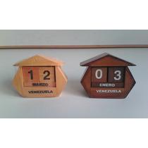 Calendarios Almanaques En Madera Artesanales Accesorios Casa